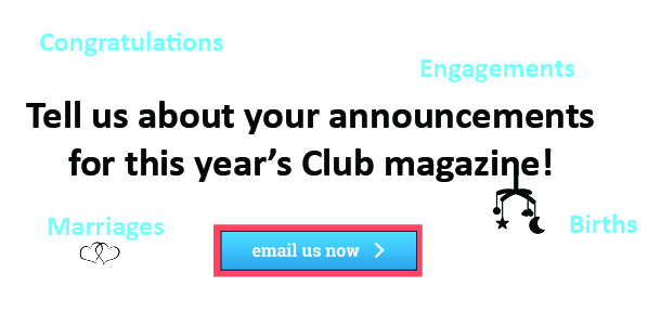 Magazine updates required - Births, Marriages, Engagements and Congratulations